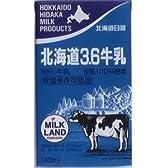 北海道3.6牛乳 1000ml 「常温保存可能品」