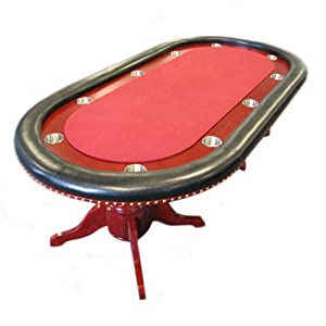 Trademark Poker Table – 90-Inch Texas Hold'em Poker Table with Raceway