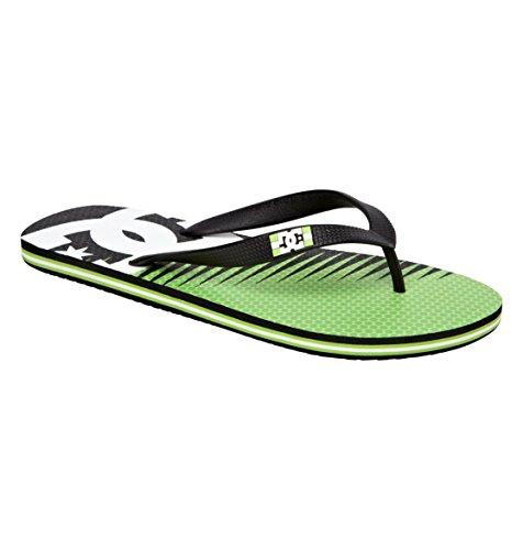 Dc Men'S Spray Carnivor Flip Flop,Black/Green,11 M Us front-1065115