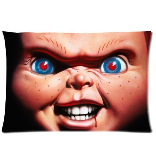 Custom Horror Movie Curse of Chucky Pillowcase Standard Size 20x30 inch Design Pillow Case Cover(Two Sides)