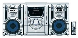 Panasonic SC-AK230S Nitrix Series 5-CD Mini System, Silver