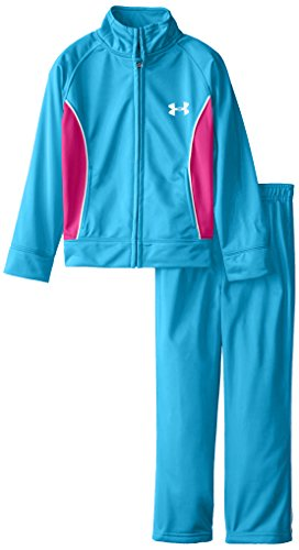 Under armour little girls 39 elite tricot 2 piece set teal for Teal under armour shirt