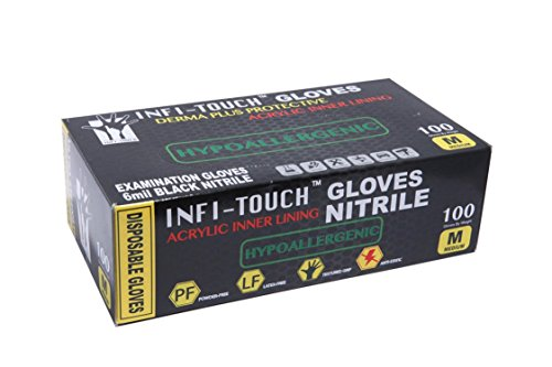 Infi-touch, Heavy Duty, Black Nitrile Gloves