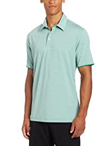 Adidas Golf Mens Climalite Heathered Thin Stripe Jersey Polo by adidas