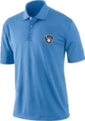Milwaukee Brewers Majestic Vintage Logo Dri Fit Polo Golf Shirt Big & Tall Sizes