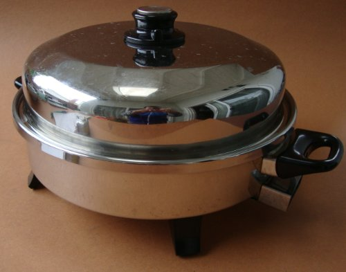 """Health Craft 12"""" Liquid Core Stainless Steel Electric Skillet Pan - K7273"""