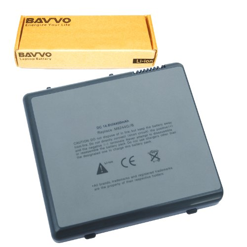 Bavvo 8-chamber Laptop Battery for Apple PowerBook G4 m5884 Titanium DVI Powerbook G4 15 A1012 M6091 M8511
