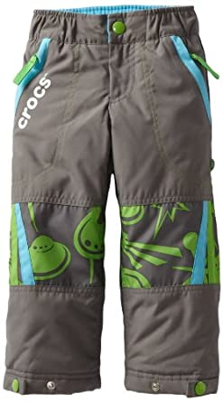 CROCS Little Boys' Ski Pant, Charcoal, 2T