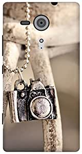 The Racoon Lean locket camera hard plastic printed back case for Sony Xperia SP