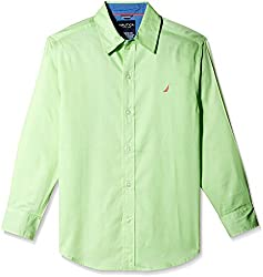 Nautica Kids Boys' Shirt (N874257Q357_Pale Green_17 - 18 years)