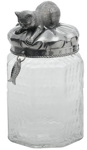 Arthur Court Cat 13-Inch Treat Jar