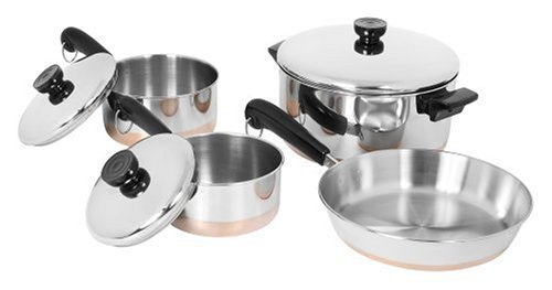 Revere 1400 Line 7-Piece Set (Revere Cookware Copper compare prices)
