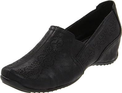 Easy Street Women's Premier Slip-On Loafer,Black,5.5 M US