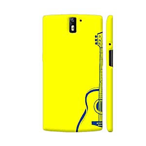 Colorpur Guitar On Yellow Artwork On OnePlus One Cover (Designer Mobile Back Case) | Artist: Miraculous