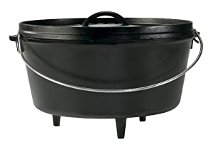 Lodge L12DCO3 Deep Camp Dutch Oven, 8-Quart