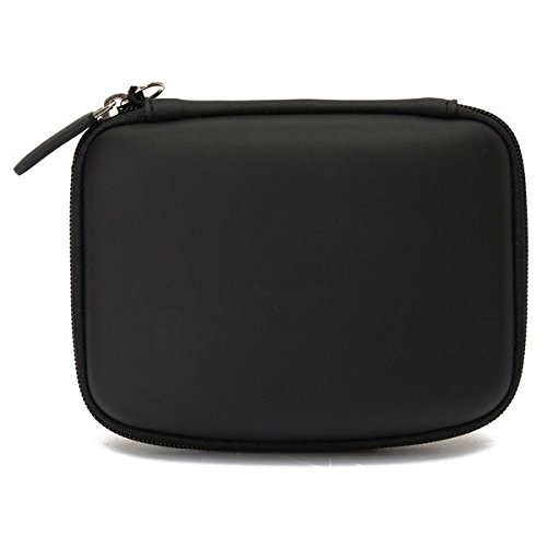 (12558-i) PORTABLE 5INCH HARD SHELL GPS CARRY CASE BAG ZIPPER COVER