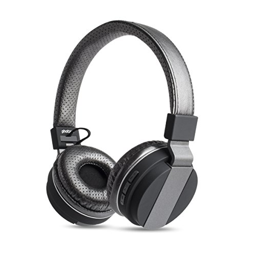 photive bluetooth headphones bth85 over the ear wireless headphones gunmetal. Black Bedroom Furniture Sets. Home Design Ideas