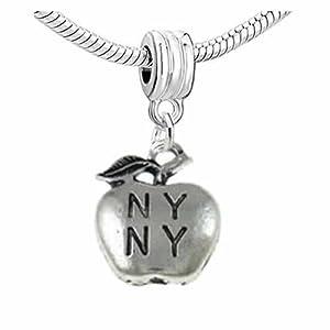 quot ny ny quot new york apple charm dangle bead for