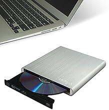 Archgon externa Blu-Ray DVD grabadora de CD (Panasonic UJ-260) con USB 3.0 | cepillado caja de aluminio - plata | compatible con PC y Mac | MacBook Pro | Air | iMac (6x BD-R SL / DL / TL / QL, 4x BD-RE SL / DL / TL, 4-6x DVD ± RW, CD-ROM 24x, 4x CD-R