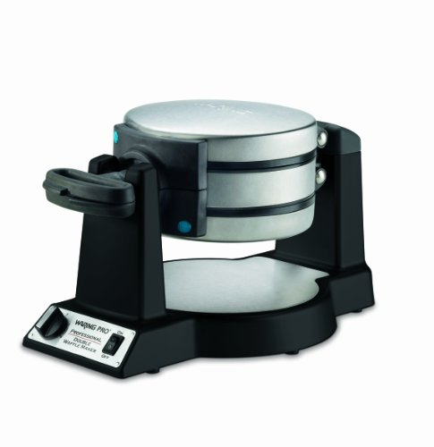 New Waring Pro WWM1200SA Double Belgian-Waffle Maker, Black
