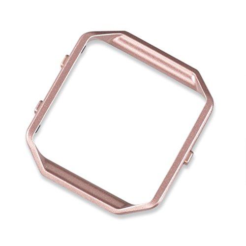 wearlizer-fitbit-blaze-gestell-edelstahl-metall-rahmen-ersatz-pink-gold