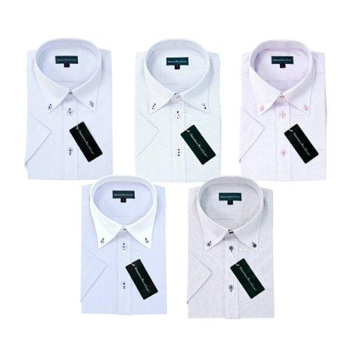 (グリニッジ ポロ クラブ) GREENWICH POLO CLUB 半袖 ビジネスワイシャツ 形態安定 スタイリッシュ半袖 5枚セット(M-39)