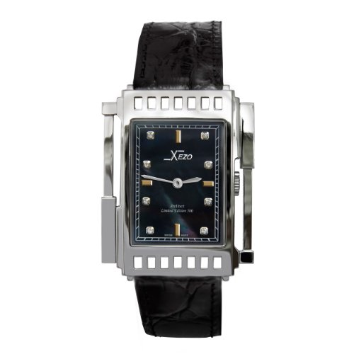 Other watches xezo unisex architect swiss made watch natural black mother of pearl 5atm wr for Xezo watches