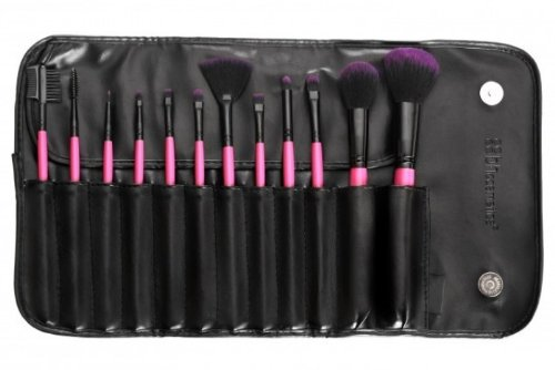 BH Cosmetics 12 Piece Synthetic Make-Up Brush Set, Berry (Bh Cosmetics 12 Piece Brush Set compare prices)