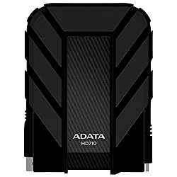 ADATA Dash Drive Durable HD710 Portable External Hard Drive, Black, 1TB