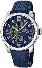 Comprar Festina F16585/3 - Reloj analógico de cuarzo para hombre con correa de piel, color azul