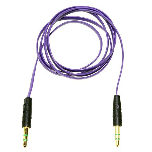 """Purple Premium 3.5Mm 1/8"""" Audio Aux Cable Lead Cord For Skullcandy Hesh 2 Headphone **Ablegrid Trademarked**"""