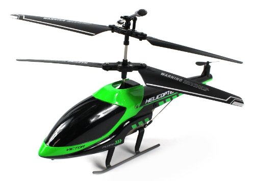 Vector Blade Electric Rc Helicopter Gyro Gyroscope 3.5Ch Channel Usb Ir Infrared Ready To Fly Rtf (Colors May Vary)