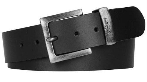 Albert Levis Belt Cintura in pelle, Uomo, Nero, 100 cm