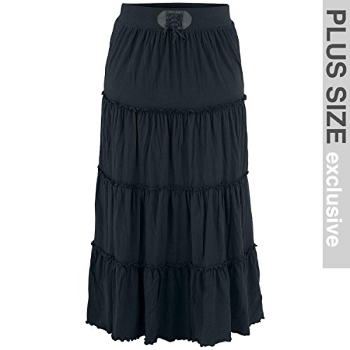 Black Premium by EMP Tiered Skirt Gonna nero XXL