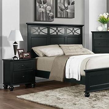 Homelegance Sanibel 2 Piece Platform Bedroom Set in Black