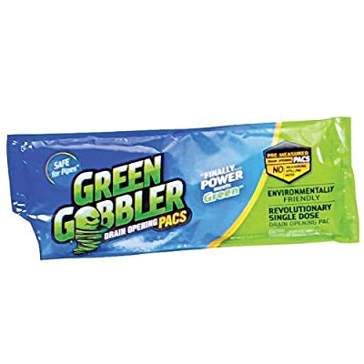 As Seen on TV Green Gobbler Drain Opening Pacs