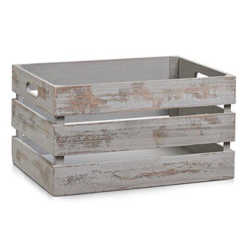 zeller-15138-de-rangement-caisse-en-bois-gris-vintage-39-x-29-x-21-cm