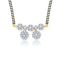 Meenaz sterling-silver Mangalsutra For Women Gold-MSP 707