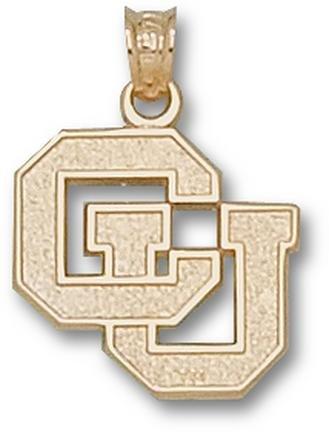 Colorado Buffaloes CU 5 8 Pendant - 14KT Gold Jewelry by Logo Art