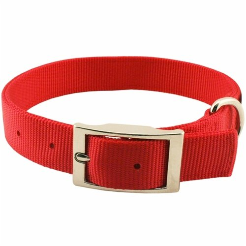 Guardian Gear 22-Inch Double-Layer Nylon Dog Collar, Red front-980861