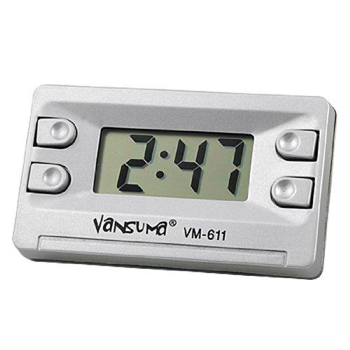 Amico Car Home Silver Tone Digital LCD Desk Wall Clock