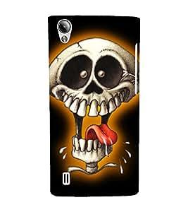 EPICCASE Funny Skull Mobile Back Case Cover For Vivo Y15 (Designer Case)