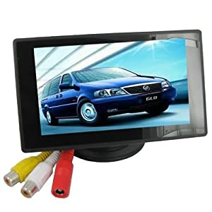 4.3'' Color TFT Car Monitor Support 480 x 272 Resolution + Car/Automobile Rear-view System Mirror Display Monitor by SecurityIng
