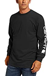 Carhartt Men's Signature Sleeve Logo Long Sleeve T-Shirt Original Fit