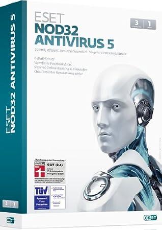 ESET NOD32 Antivirus 5 - 3 PCs / 1 Jahr