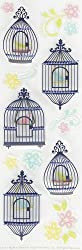Martha Stewart Crafts Modern Damask Bird Cages and Flowers Stickers