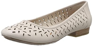 Clarks Womens Casual Clarks Henderson Silk Leather Shoes In Cotton Standard Fit Size 3