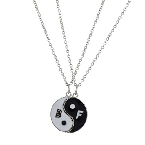 Lux Accessories, collana Yin Yang pace migliori amici per sempre