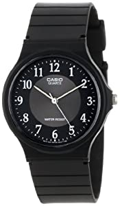 Casio Men's MQ24-1B3 Analog Black Rubber Strap Watch