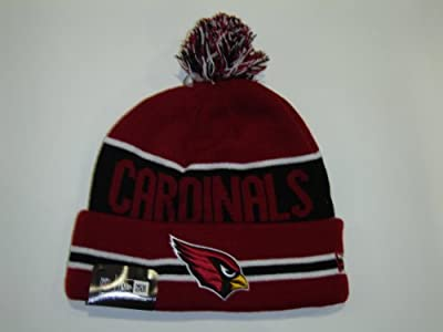 New Era MLB St Louis Cardinals Black Striped Jake Cuffed Knit Pom Beanie
